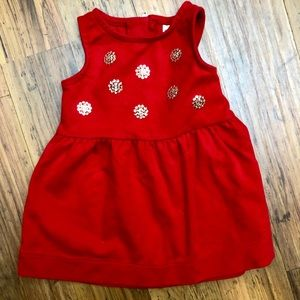 12mth Red sequin dress